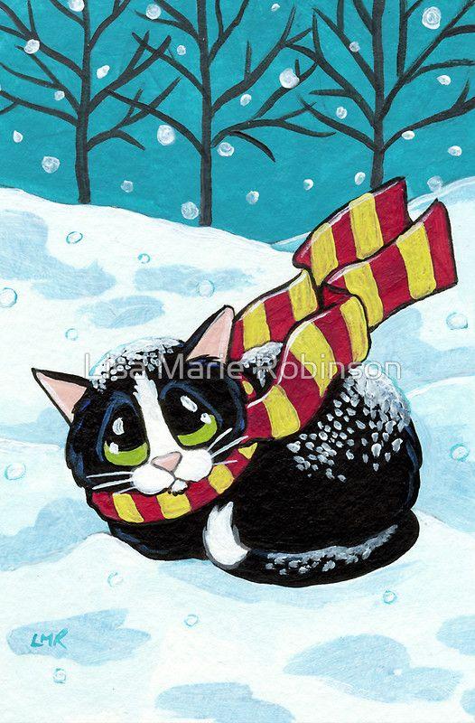 Tarjeta de felicitación 'A Wintery Breeze' de Lisa Marie Robinson
