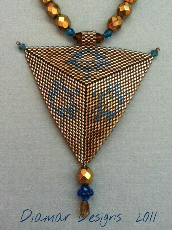 One of my early beaded triangle designs.