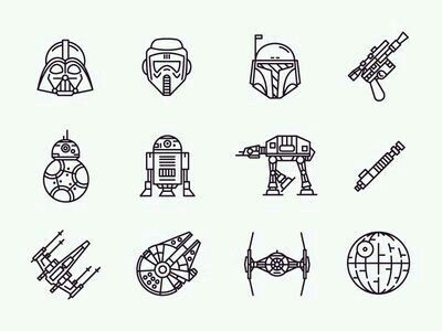 Behind the ear Star Wars tattoos