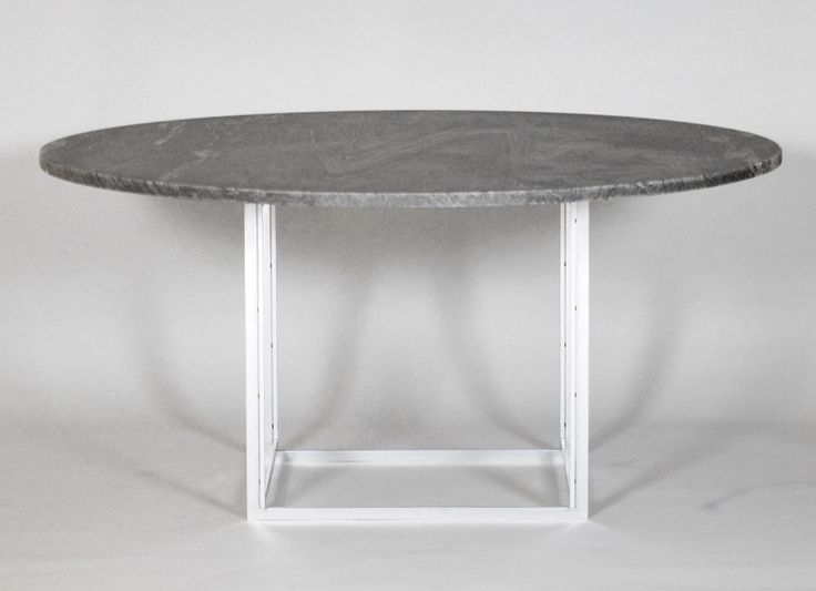 """Poul Kjærholm (1929-1980) #PK54.  A dining table and chair set. """"PK-54"""". Round dining table with cube-formed matt chromed-plated steel frame. Flint-rolled Chipollino marble plate. Manufactured and stamped by E. Kold Christensen. #PoulKjærholm"""