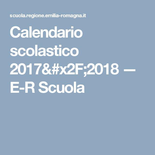 Calendario scolastico 2017/2018 — E-R Scuola
