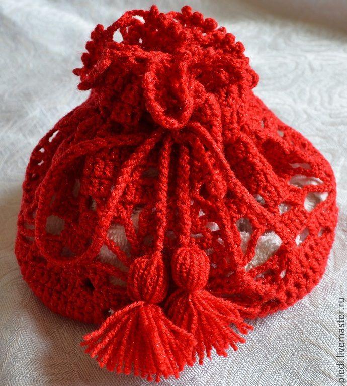 Купить красный мешочек для подарка - ярко-красный, упаковка, упаковка для подарка, упаковка подарочная