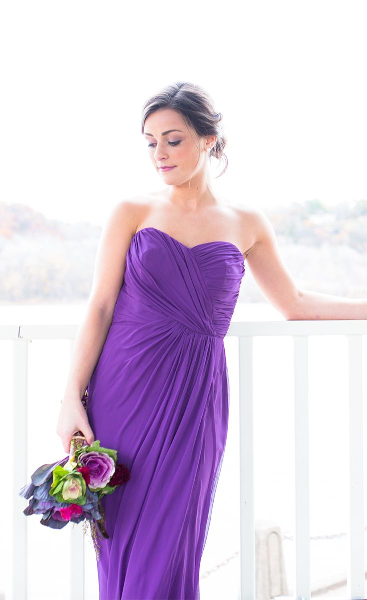 Long purple bridesmaid dresses 25 pinterest a gorgeous long chiffon bridesmaid dresses that exudes nothing but elegance and class ombrellifo Image collections