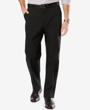 Dockers Men's Stretch Relaxed Fit Signature Khaki Pants D4 - Black 32x34