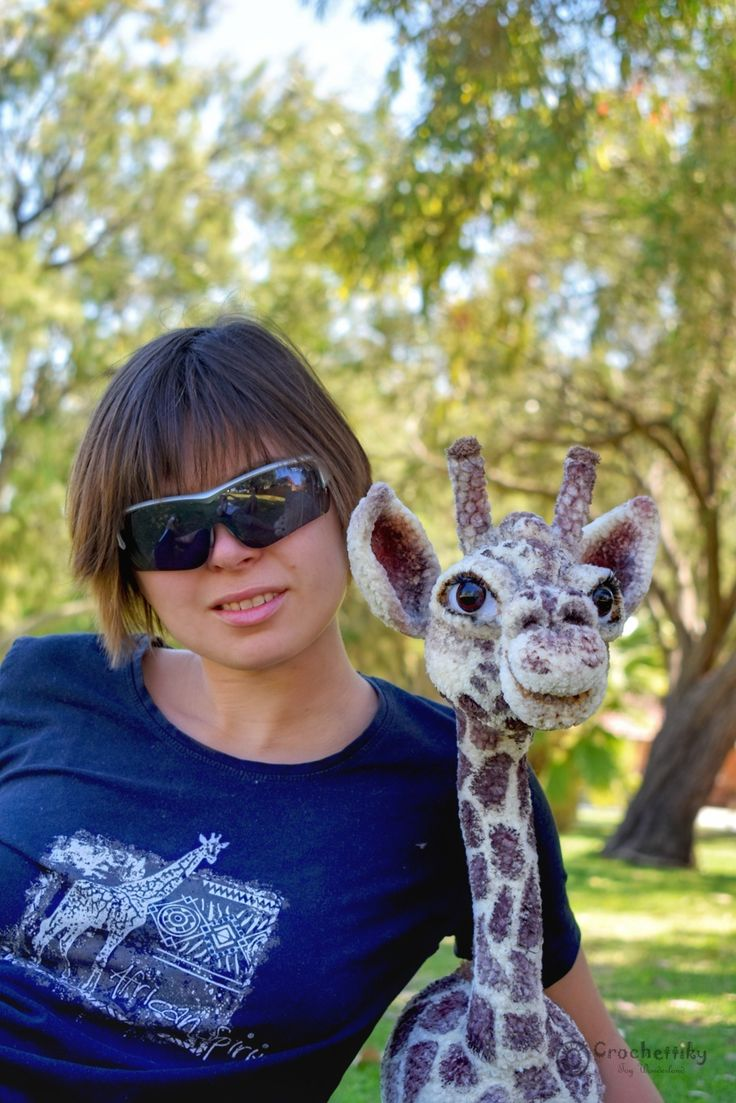 Crochettiky Natali and Jane the Giraffe