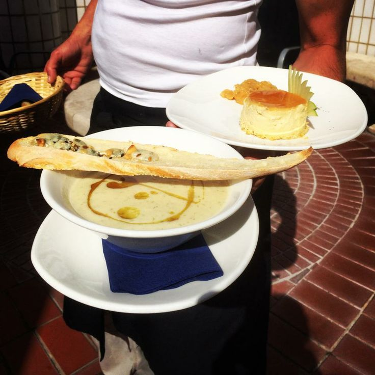our daily fresh soup with our daily baked fresh bread and some sweet treat...