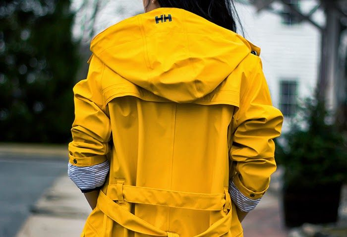 Yellow Raincoat #fashion #style #inspiration
