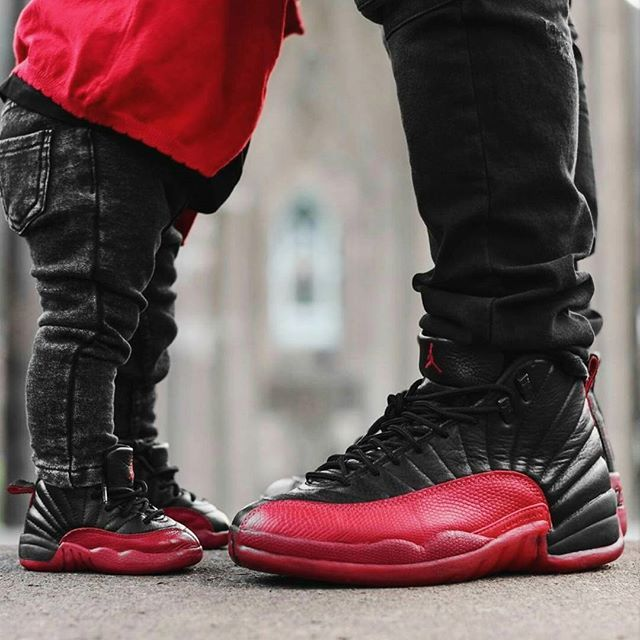 #matchymatchy in #Jordan12 'Flu Game' : @sole_jah #minilicious •