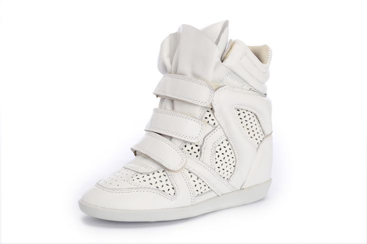 Isabel Marant Wedge Sneakers High Top Suede Leather All White $299.00 http://www.marantoutlet.com/cheap-isabel-marant-wedge-sneakers-high-top-suede-leather-all-white_11.html