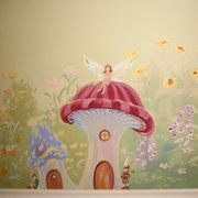 17 of 2017 39 s best painted wall murals ideas on pinterest for Fairy garden wall mural