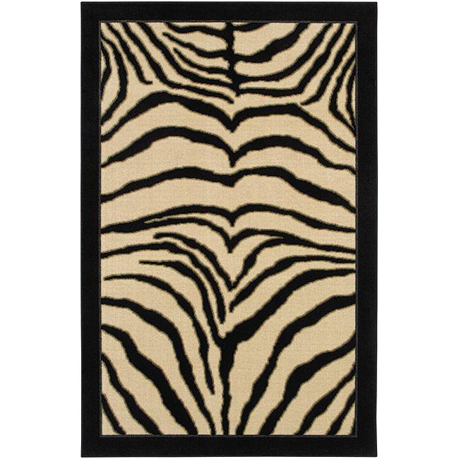 Zebra area rug 8×10