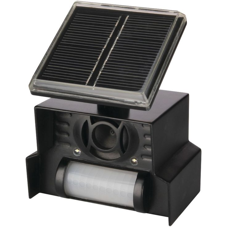 Solar powered Motion activated Powerful strobe light Inaudible to humans Weatherproof Patented design