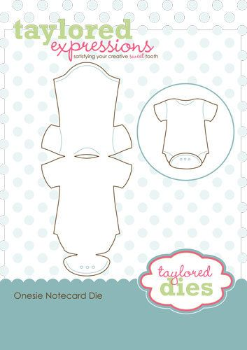 Onesies die cutter, could be an idea for a baby shower invite!