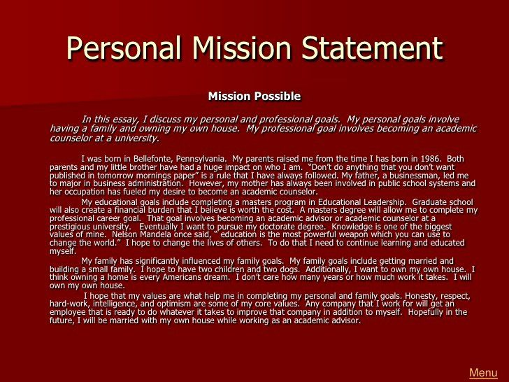 Life Time Mission Statement Unique Greg Reeder Portfolio 1 In 2020 Personal For Career Examples