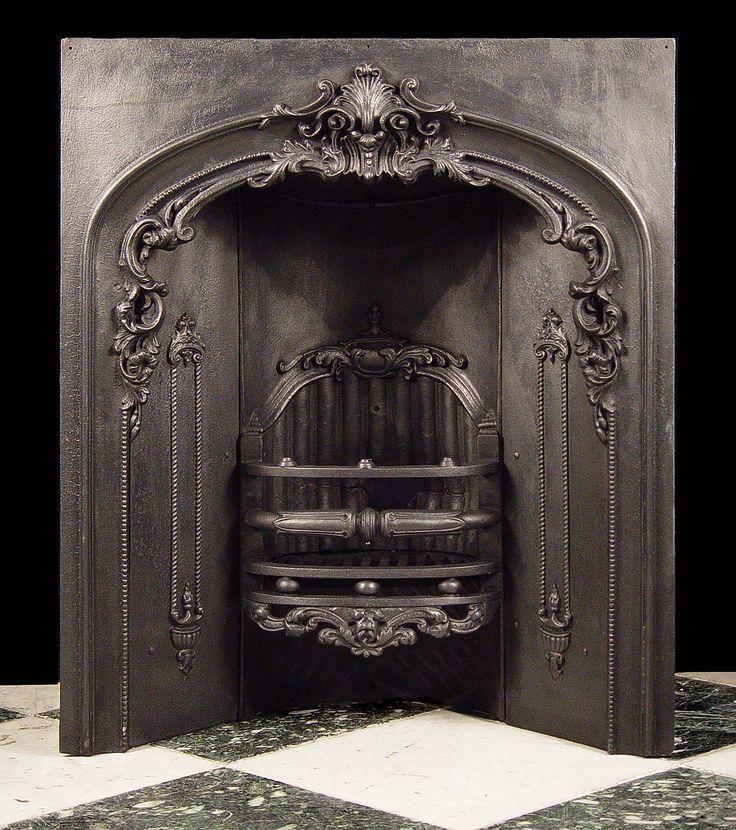 Best 25 cast iron fireplace insert ideas on pinterest for Victorian corner fireplace