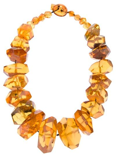 TIER MOTIS chunky amber bead necklace.