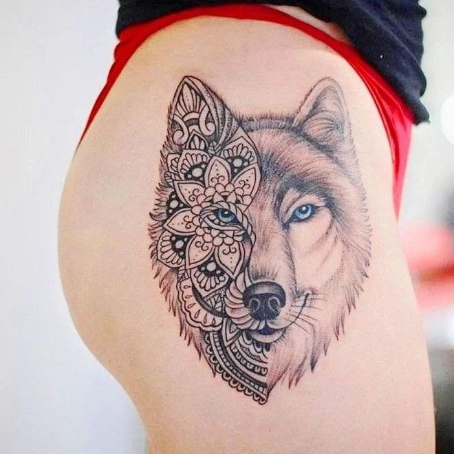 Pin By Picsmine On Tatouage Wolf Tattoos For Women Lace Skull Tattoo Vintage Tattoo