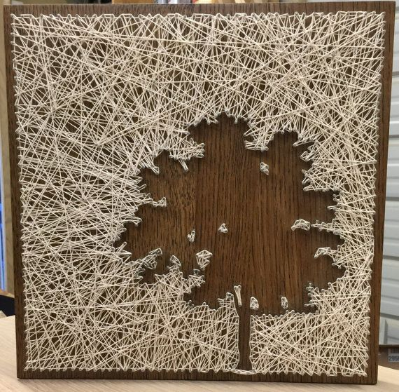 Inverted Tree String Art by SosaStrings on Etsy