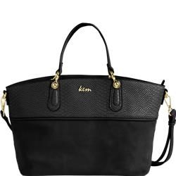 Big size handbag in Snake leather-like material black & miele discover online @ http://goo.gl/q3idhv