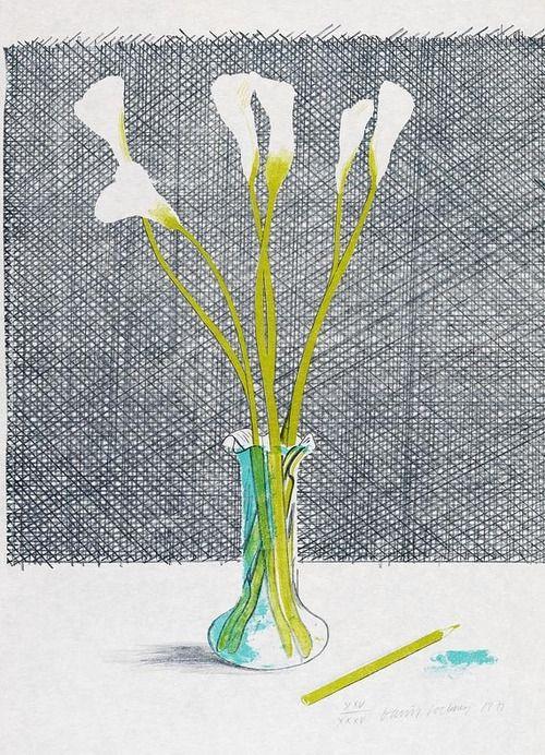 David Hockney  Lilies  1971