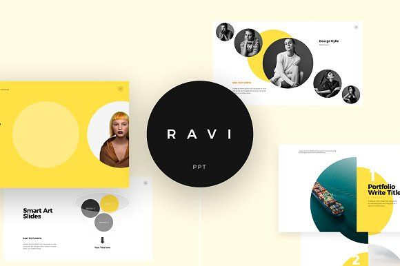 RAVI Powerpoint Template by ShapeSlide on @creativemarket