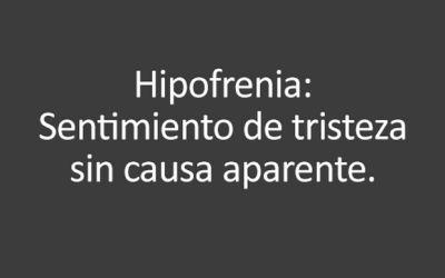 Hipofrenia #palabras