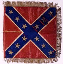 Headquarters flag of Joseph E. Johnston. Made in 1861 by Miss Hetty Cary of Baltimore, Maryland, and presented to Gen. Johnston in December 1861, and used as his Headquarters flag. The American Civil War Museum
