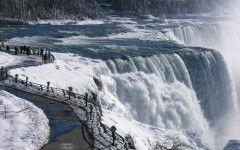 Niagara Winter Wallpaper 4k Resolution
