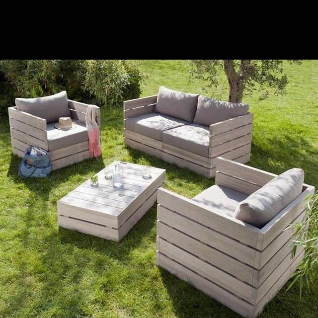 Best 25 muebles con estibas ideas on pinterest sofas for Sofa exterior jardin
