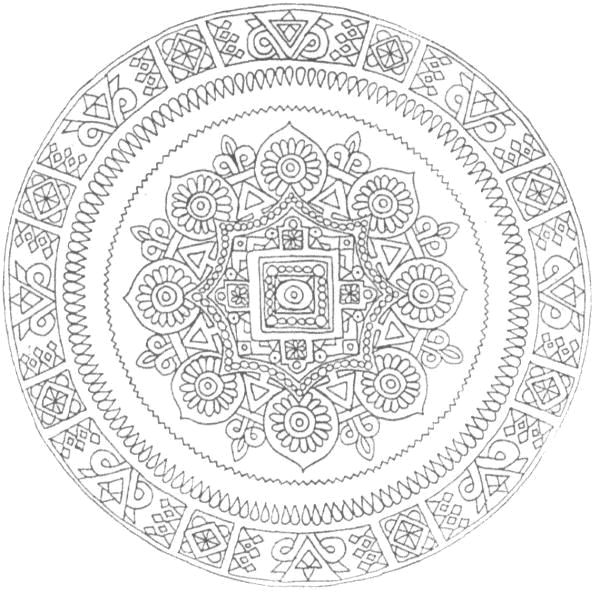 17 best images about rangoli kolam mandala on pinterest coloring mandala coloring pages and - Colorier mandala ...