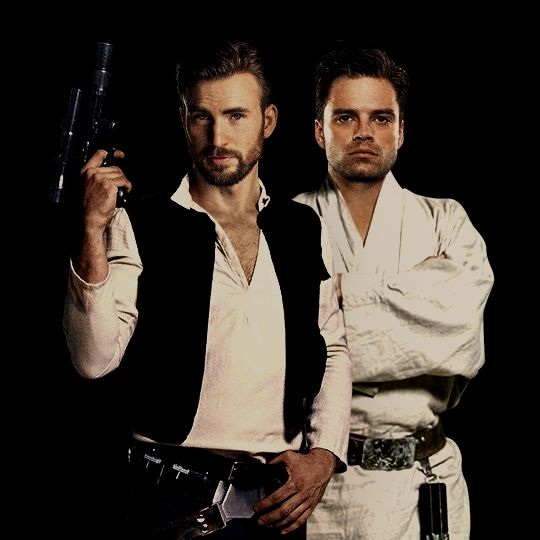 "Chris Evans and Sebastian Stan as Han Solo and Luke Skywalker <<< Can we just appreciate that Mark Hamill's ""son"" is cast as Luke in this"
