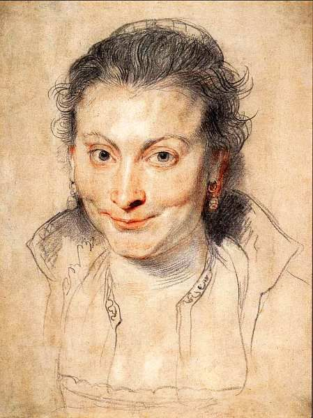 Питер Пауль Рубенс (1577–1640) Портрет Изабеллы Брант. Около 1621. Черный, красный и белый мел. 38,1x29,4 из собраний графики и гравюр Британского музея.