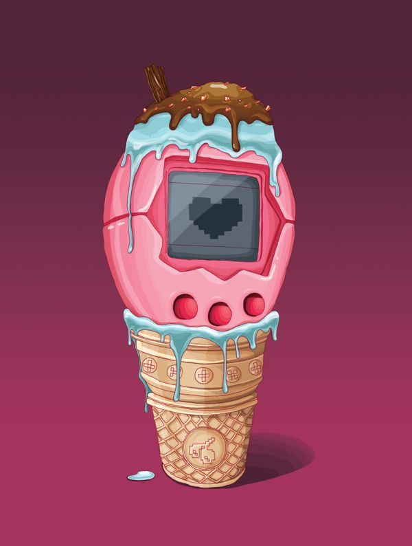 Tamagotchi with toppings - The Hungry Games by DRIEHOEK. Illustrated by Lizanne Visser