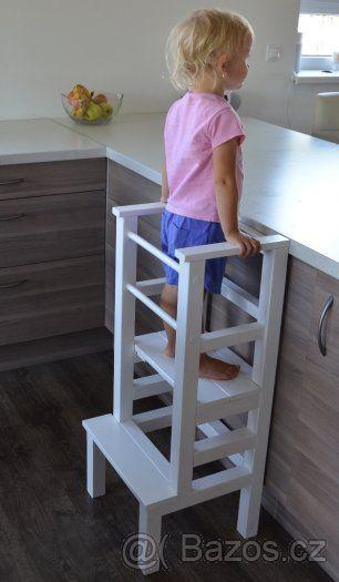 Stavitelná učící věž - stupínek / Montessori learning tower