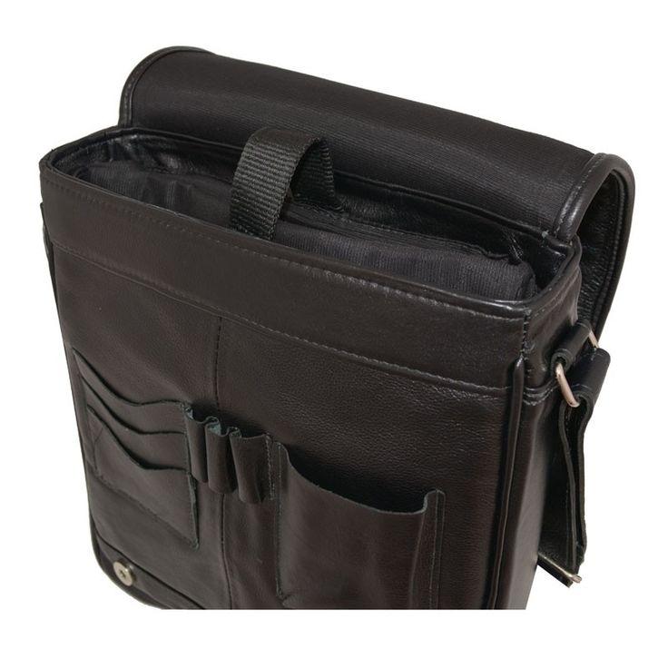 Bolsa Masculina em couro legitimo estilo executivo moderno com compartimento interno para Tablet , pendrive e outros acessórios. Altura 34 cm x largura 28 cm x Prof. 9 cm