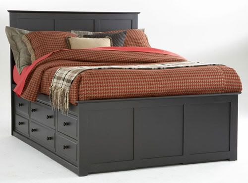 queen bed with six under bed drawers on each side | ... queensize captains/storage beds? - Smaller Homes Forum - GardenWeb