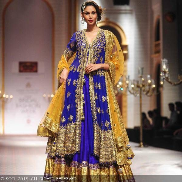 Wedding Lancha Images: Royal Blue Lehenga/Lancha By Preeeti Kapoor