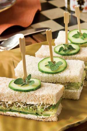 A Tea Sandwich Primer Slide Show, from Tea Time Magazine! :) Yummy yummy cucumber sandwich.