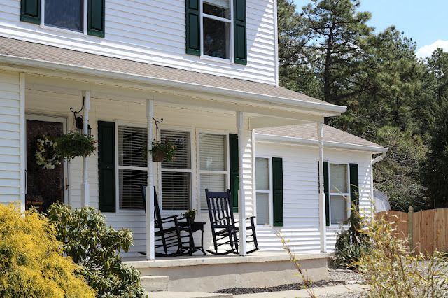 Pine Tree Home: Painting Plastic Shutters Before & After