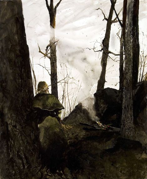 Andrew Wyeth, Big rocks, 1974