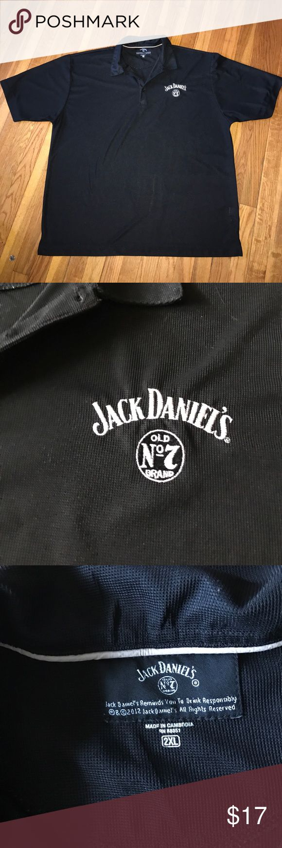 Jack Daniel's Waffle Polo Golf Shirt Short was purchased at the Jack Daniel's plant in Lynchburg, Tennessee. Shirt has waffle mesh Knit to keep you cool in the summer. 100% authentic. Has Jack Daniel's logo embroidered on left chest. In excellent condition! Jack Daniel's Shirts Polos