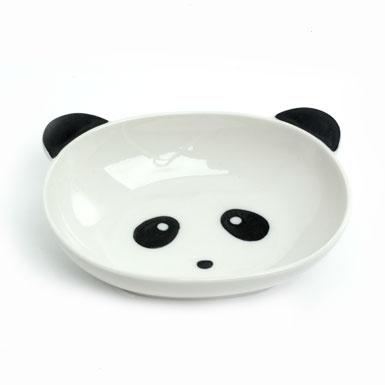 kids' panda face bowl