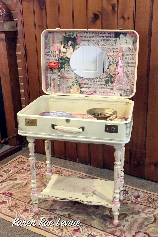 Turn a thrift store suitcase into the best decor for your bedroom