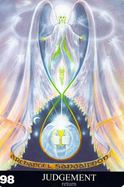 98 - Le jugement (retour) - New Aura Soma Tarot