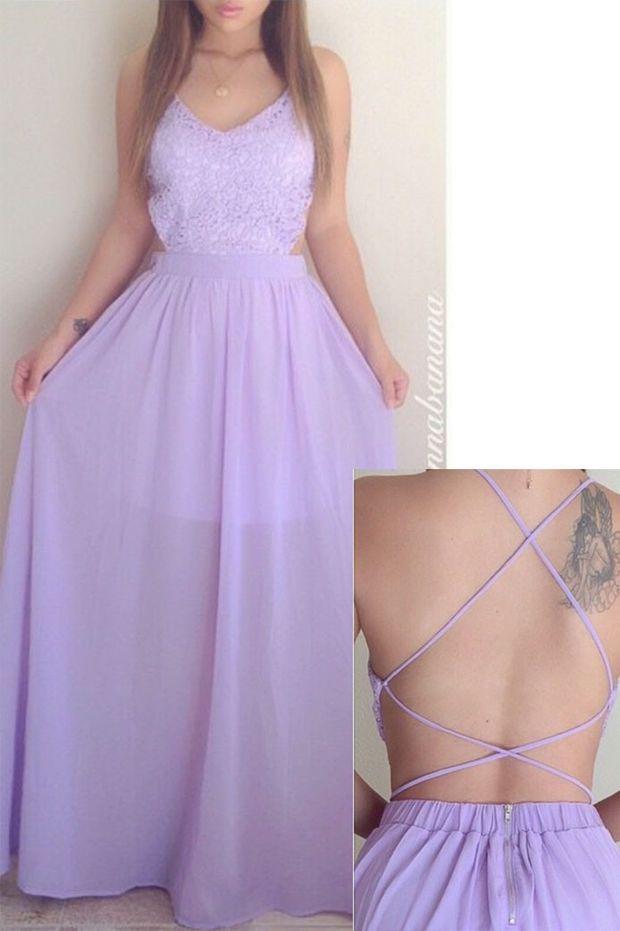 Chiffon Candied Petals Maxi Dress