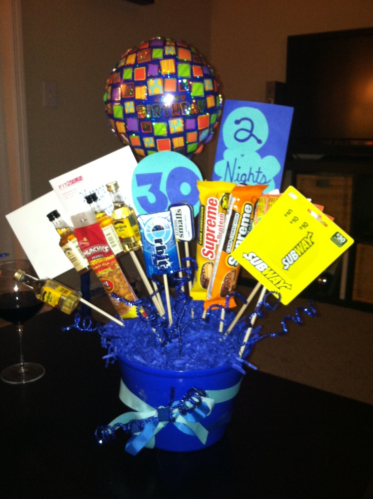 30th birthday man bouquet and bouquets on pinterest for 30th birthday decoration packages
