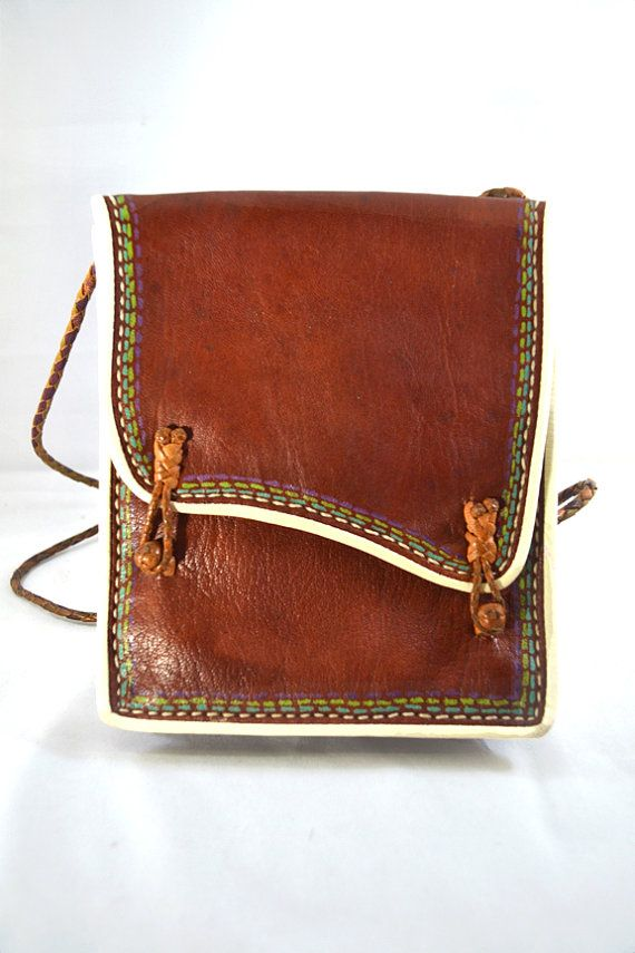 Mexican Leather Satchel Bag with Shoulder Strap by Bricolageur, $18.00