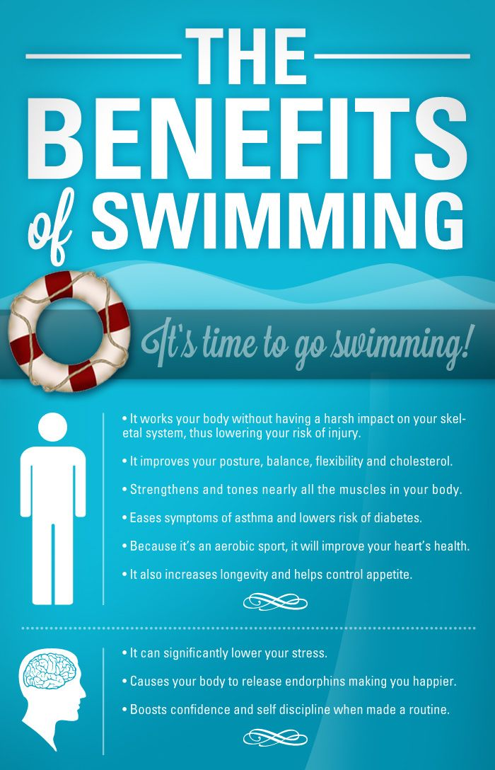 Darn good reasons to get out and swim or at least exercise in some way.