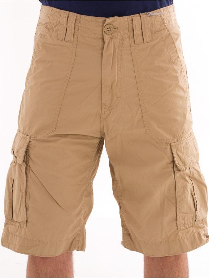 O'NEILL Ανδρική βερμούδα, πλαινές τσέπες, μήκος κάτω από γόνατο, ζαχαρί χρώμα. 59€ από 69 €
