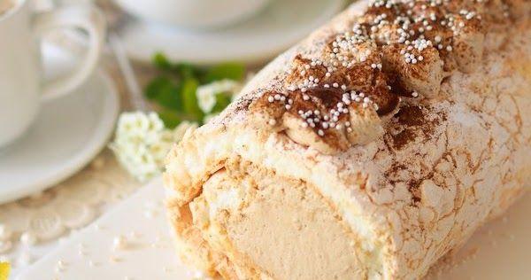 rolada bezowa z kremem kawowym, najlepsza beza, bezy, krem kawowy, deser, dzień matki, ulubiony deser mamy, ciasto dla mamy, kawa inka, inka z magnezem, kawa zbożowa, przepis na bezę, blat bezowy, dla mojej mamy, sprawdzony przepis
